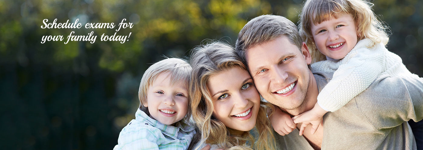 Family with great teeth